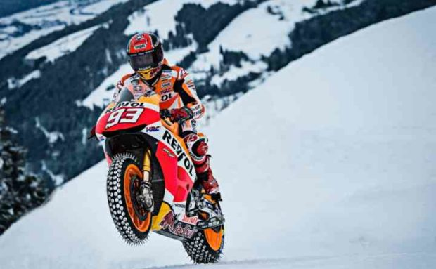 MotoGP on snow