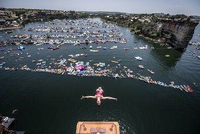 Red Bull Cliff Diving World Series 2018 at Possum Kingdom Lake, Texas