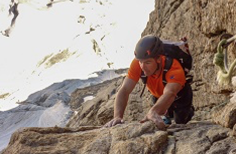 Dani Arnold sets a new record time to the Walker Spur on the Cassin route