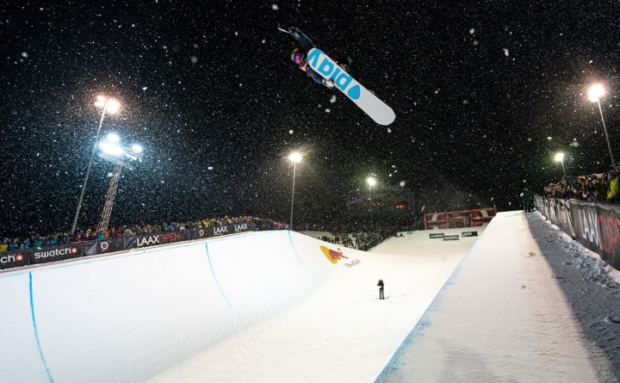 Halfpipe winners Laax Open 2020:  Queralt Castellet & Scotty James